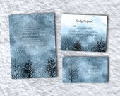 Winter Magic, printable Wedding Invitation template suite with rsvp, info card / snow / winter / NRDIY-22914