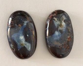 Natural Boulder Opals Cabochon Split - 2 Pieces