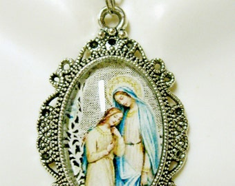 Saint Anne with Mary necklace - AP04-119