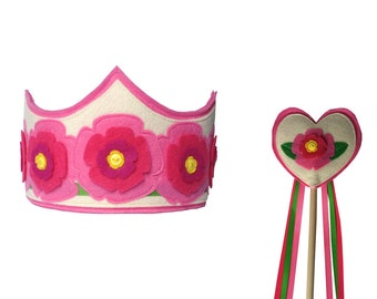 Summer Princess Crown and Wand Set