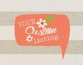 Custom Listing - Farm Thank You - Girl