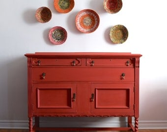 Raspberry Red Sideboard