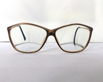 Paloma Picasso Eyeglasses // Vintage 1980s 1990s Avant Garde Glasses // Made in Germany by OPTYL