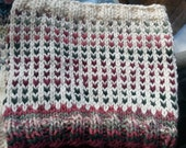 Reserved for CRob - Chunky Knit Graffiti Rose Cowl
