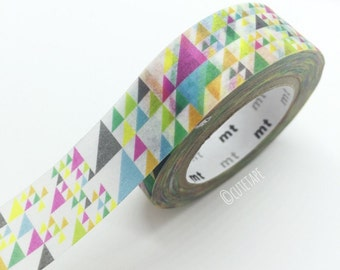 Colorful Triangle washi tape Pretty Tape Japanese