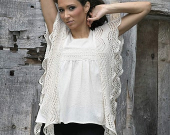 White Lace Blouse, Boho Blouse, Women Lace Tee, Summer Top, Beach Tee, Casual White Top, Fashion Tee, Modern Top, Plus Size Clothing
