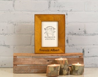 """4x6 Picture Frame Personalized with Name of Your Choice  1.5"""" Standard Style and VINTAGE Finish Color of YOUR CHOICE - Dog Frame - Cat Frame"""