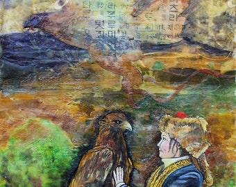 Ashol-Pan Eagle Hunter Print by Vandy Hall, signed