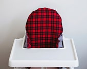 Lumberjack Flannel // IKEA Antilop Highchair Cover // High Chair Cover for the PYTTIG Cushion // Pillow Slipcover