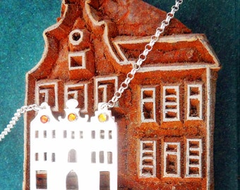 Amsterdam Houses Sterling Silver and Sapphire Necklace