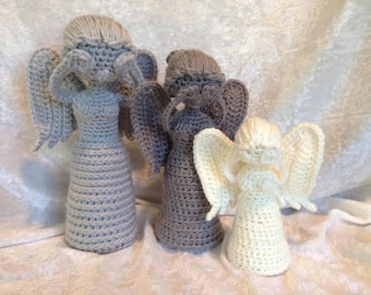 DON'T BLINK! Crochet Weeping Angel Statue Doll.
