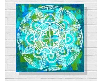 Zendoodle Painting / Original Art Painting / Canvas / Zendala Painting / Mandala Painting / Acrylic Painting / Art on Canvas