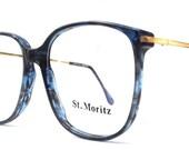 vintage 1980's NOS eyeglasses oversized round blue marble plastic frames gold metal arms prescription mens womens modern eye glasses eyewear