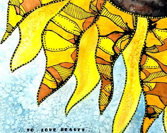 Sunflower 8x10 Limited Edition Fine Art Print