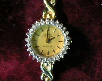 Jacques Prevard 14 KT Gold and Diamond Watch Bracelet
