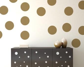 Polka Dot Decals, Polka Dot Wall Decal, Party Decorations, Vinyl Polka Dots, Nursery Decor, Nursery Wall Decal, Apartment Decor, Dorm Decor