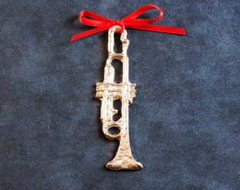 Pewter Trumpet Ornament