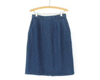 Vintage Denim Skirt * Vintage Jean Skirt * Bubble Skirt * Large