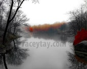 Central Park, Pond, New York Photography, Brown, Gray, Rustic, Central Park Pond, Winter Central Park