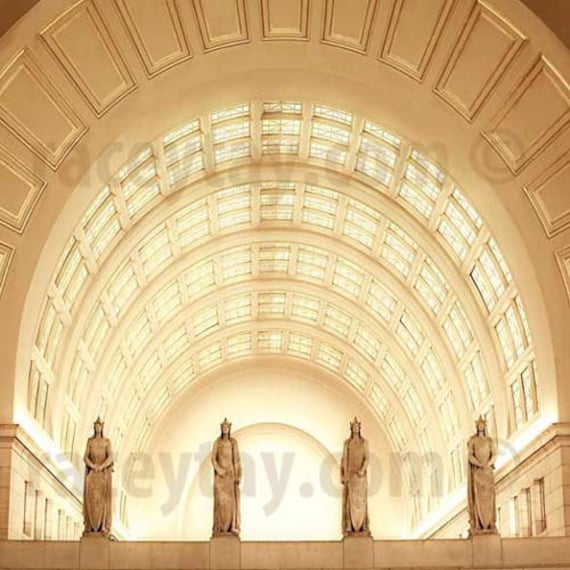Union Station, Washington DC Photography, Art Deco, Architecture, Roman Soldiers, Office Decor, Travel Photography