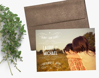 Photo Save the Date - Printing & Magnet Deposit or Printable / Digital File