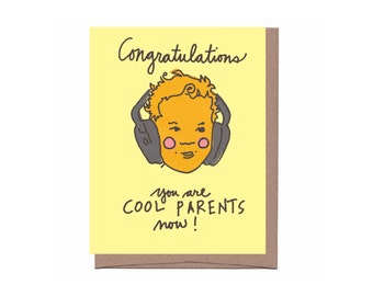 Cool Parents Baby Card