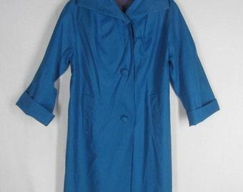 Vintage 60s Raincoat Canadian Mist Rain Coat Water Repellant Lined