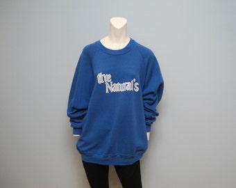 "Vintage 80s ""The Natural's"" Blue Sweatshirt - 2XL"