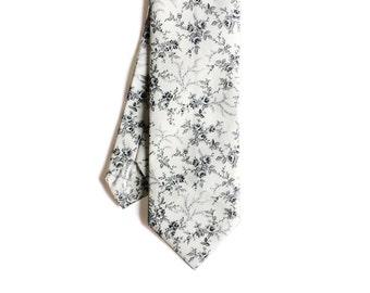 Elliot - Gray Floral Men's Tie