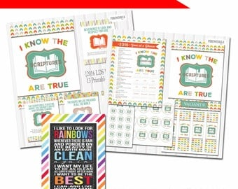 2016 Primary Theme-Value Bundle-LDS Primary Printables-13 Posters and All Add-on items+5x7 Printable Baptism Gift