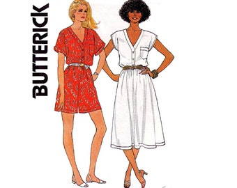 80s Dress & Rompers Short Jumpsuit Pattern Butterick 3277 Retro Vintage Sewing Pattern Size 14 16 Bust 36 38 Inches