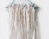 Summer Dreams. Woodland Rustic Boho Dream Catcher. Bohemian Rustic Branch©Garland. Shabby Chic Cottage Wall Decor.Photo Props