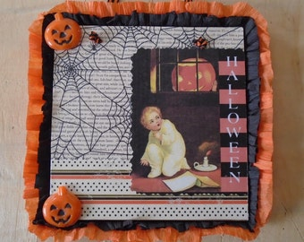 Halloween Vintage Inspired Collage Wall Decor