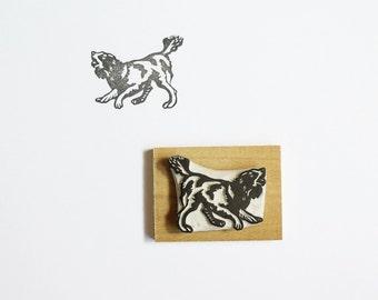 Barking Dog - Hand Carved Rubber Stamp