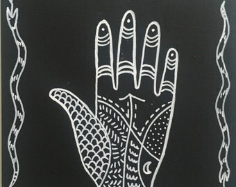 """Magic Hand Series #1 with Patterns Original Painting 5""""x5"""""""