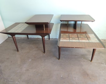 MID CENTURY MODERN Pair of End Tables