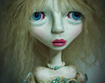 SALE-Handmade  Collectible Unique -OOAK- Clay Art doll- Lisa