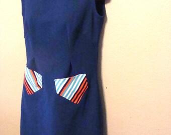 Vintage Retro 1960s 1970s mod Go Go Dress size medium homemade