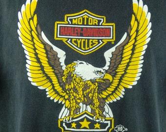 1987 HOLOUBEK Harley Davidson T-shirt, Men's Extra Large