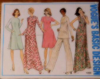Vogue's Basic Design Pattern #1059 Women's Dress, Tunic and Pants  Bust 42  Uncut