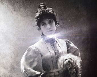 Fine Art Photograph - Digital manipulation - Vintage photograph - Black and White