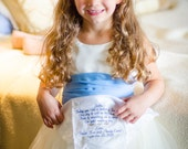 Flower Girl, Wedding Gift, Personalized, FLOWER GIRL WEDDING Gift, Embroidered Wedding Hankerchief for Flower Girl, By Canyon Embroidery