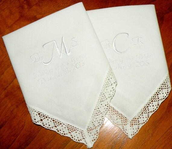 monogram handkerchief