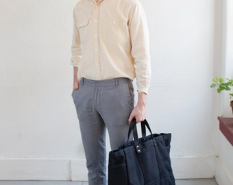 Tool / Garden Tote In Black Waxed Canvas