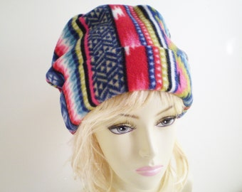 Tribal Fleece Cap, Tribal Slouchy Cap, Tribal Beanie Cap, Tribal Beanie Hat, Tribal Fleece Hat,Tribal Slouchy Hat