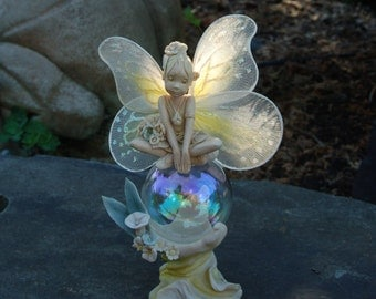 """Rawcliffe Jessica De Stefano """"Petal"""" 1991 Bubble Fairy Figurine ~ Made in USA ~ Limited Edition ~ Numbered ~ Woodland Fairies ~ Flower Fairy"""