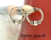 Men's hoop earrings, pellet and vortex hoop earring, cartilage earring, small hoop earring, wire hoop earring, cartilage hoop,  543A