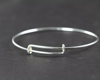Bangle Bracelet 925 Sterling Silver Adjustable Expandable Wholesale Bulk Bangles 14 Gauge