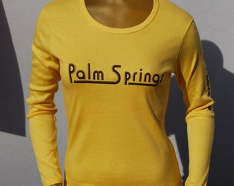 Vintage 70's t-shirt NOS never used size XL souvenir Palm Springs t-shirt by thekaliman