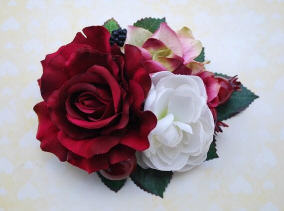 joli bourgogne rose avec bordeaux rose et hortensia vert
